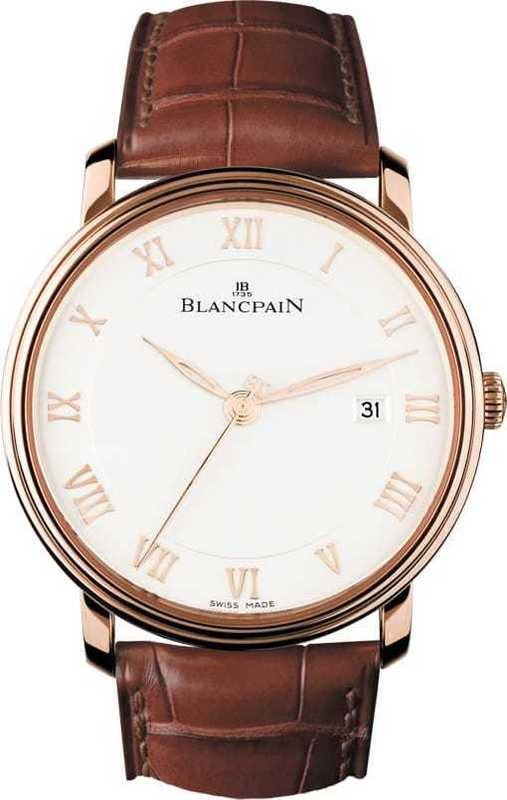 Blancpain Villeret Ultra Slim Seconds and Date In 18kt Rose Gold 6651-3642-55B