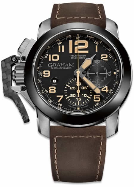 Graham Chronofighter Steel Black Dial 2CCAC.B02A