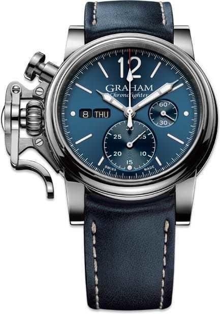 Graham Chronofighter Vintage Blue Dial 2CVAS.U01A