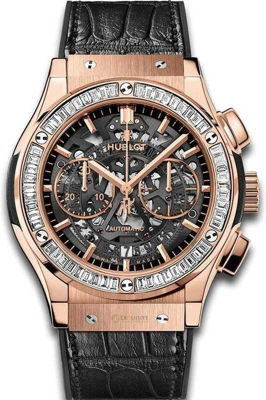 Hublot Classic Fusion Aerofusion King Gold Baguettes 45mm 525.OX.0180.LR.1904