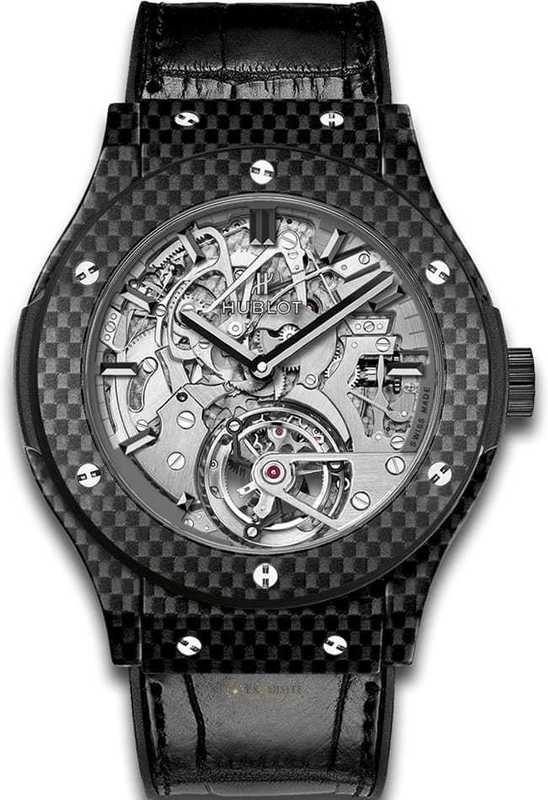 Hublot Classic Fusion Tourbillon Cathedral Minute Repeater Carbon 504.QX.0110.LR