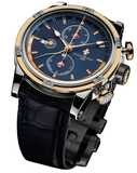 Louis Moinet Geograph 18K Gold and Steel Midnight Dial LM-24.30.25