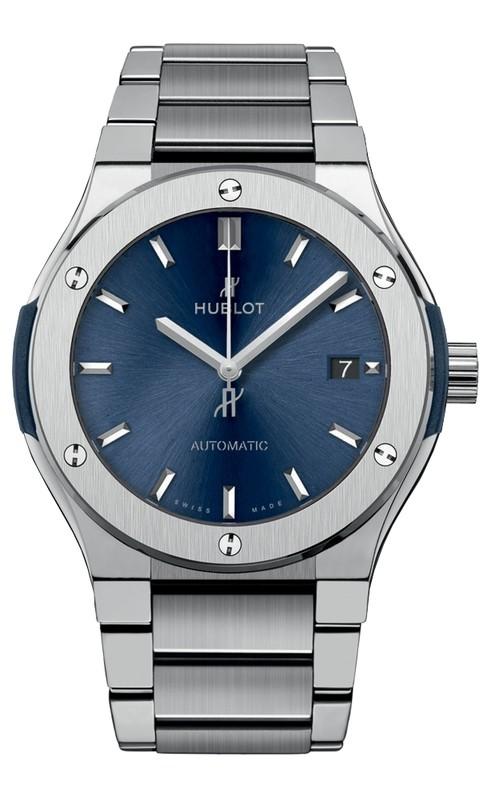 Hublot Blue Titanium Bracelet 45 mm 510.NX.7170.NX
