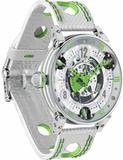 BRM Golf White Skeleton Dial Green