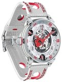 BRM Golf White Skeleton Dial Red