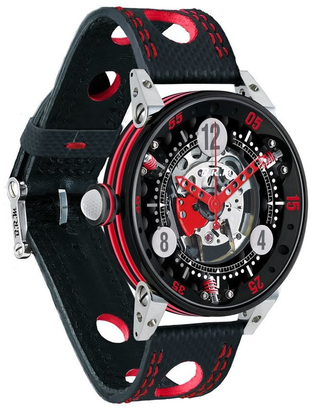 BRM Golf Black Skeleton Dial Red GF6-44-SA-N-SQ-AR
