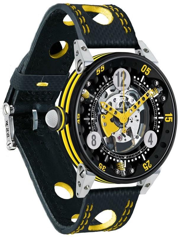 BRM Golf Black Skeleton Dial Yellow GF6-44-SA-N-SQ-AJ