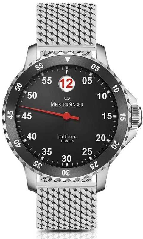 MeisterSinger Salthora Meta X Black/Red on Bracelet