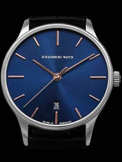 Schaumburg Watch Classoco Blue Dial 40mm