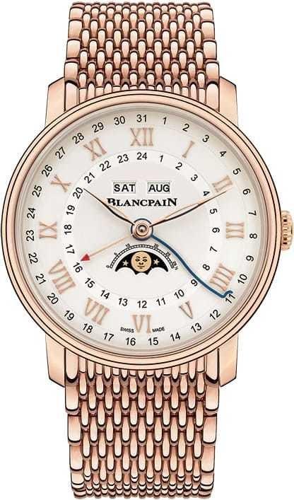 Blancpain Villeret Quantieme Complet GMT Red Gold on Bracelet 6676-3642-MMB