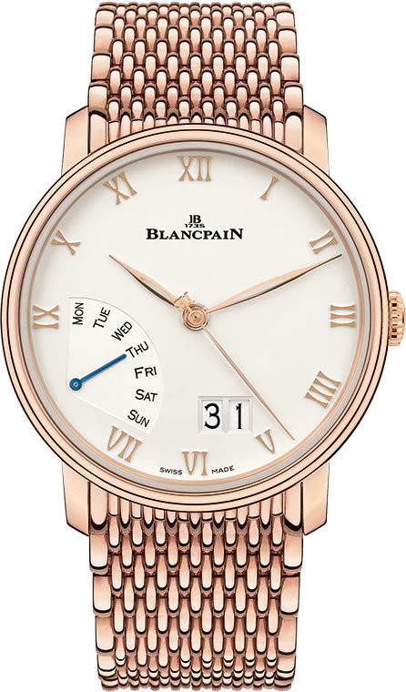 Blancpain Grande Date Jour Retrograde Red Gold on Bracelet