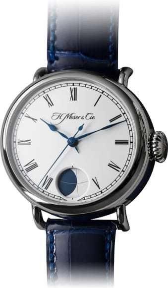 H. Moser & Cie Heritage Perpetual Moon White Gold White Dial