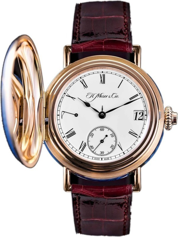 H. Moser & Cie Heritage Perpetual Calendar Red Gold White Dial