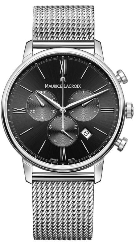 Maurice Lacroix Eliros Chronograph Black Dial on Steel Bracelet EL1098-SS002-310-1