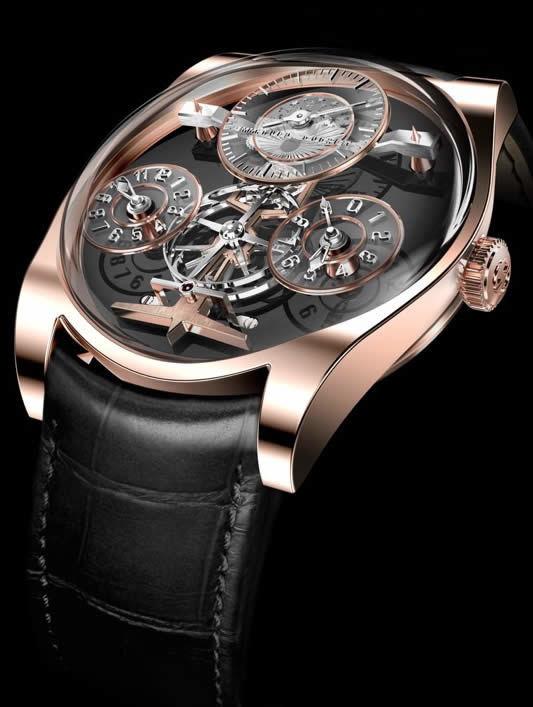 Emmanuel Bouchet Complication One 18k Rose Gold Black Dial