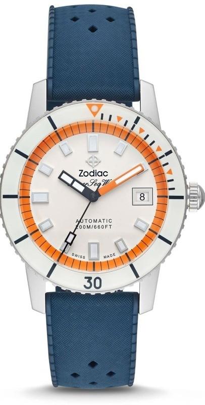Zodiac Super Sea Wolf Automatic Blue Rubber