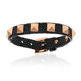 Double Bone Single Stud Black Stingray Bracelet Rose Gold Studs Unisex