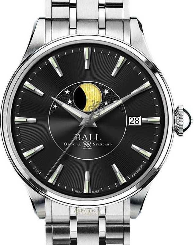 Ball Watch Trainmaster Moon Phase NM3082D-SJ-BK