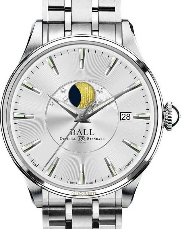 Ball Watch Trainmaster Moon Phase NM3082D-SJ-SL