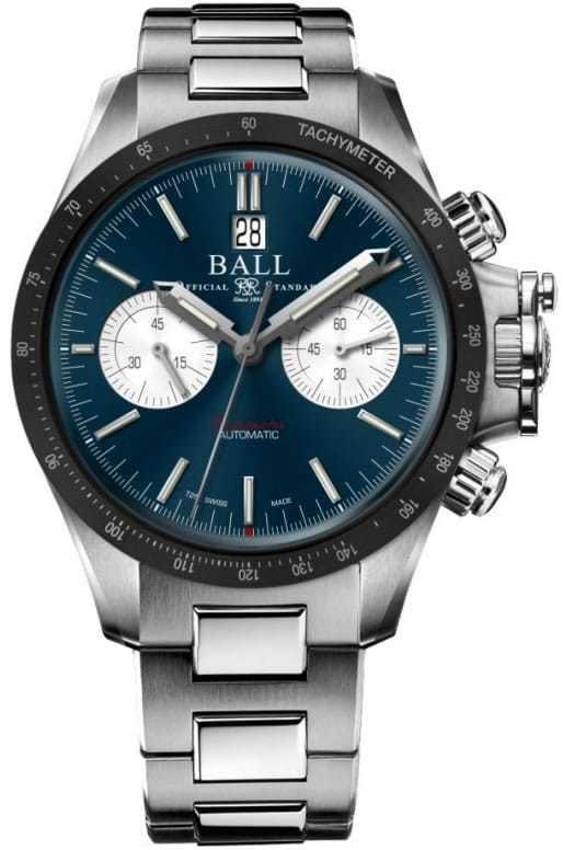Ball Engineer Hydrocarbon Racer Chronograph Blue Ceramic Bezel
