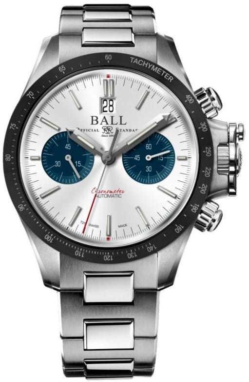 Ball Engineer Hydrocarbon Racer Chronograph Silver Ceramic Bezel