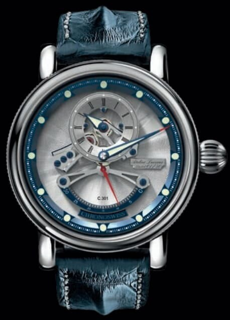 Chronoswiss Flying Grand Regulator Open Gear ReSec Silver Blue