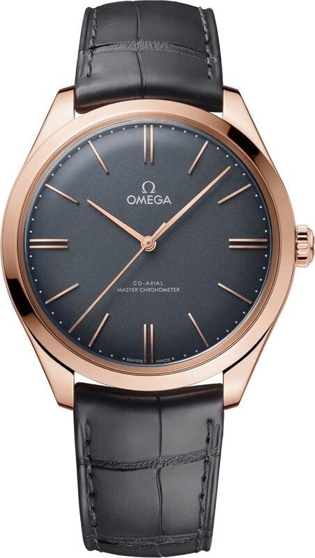 Omega De Ville Tresor Grey Gold