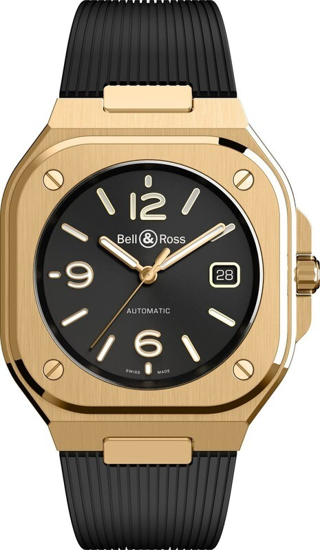 Bell & Ross BR 05 Gold on Strap