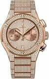 Hublot Classic Fusion Chronograph King Gold Full Pavé Bracelet