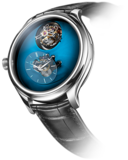 H. Moser & Cie. x MB&F Endeavour Cylindrical Tourbillon Funky Blue