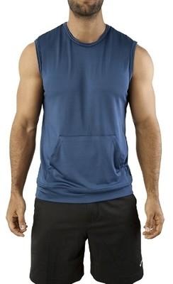 Vuthy Kangaroo Tank Muscle Shirt - Navy Blue