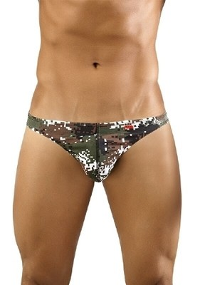 Pikante Pixel Camouflage Low Rise Thong for men