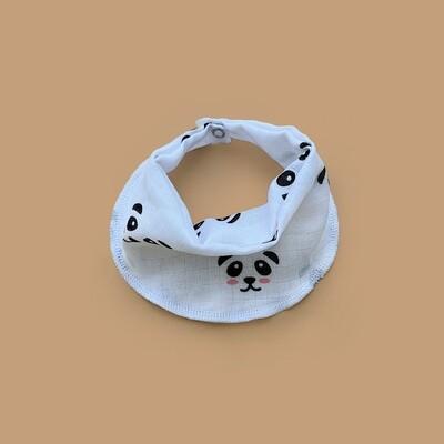 Муслиновый нагрудник Panda (white)