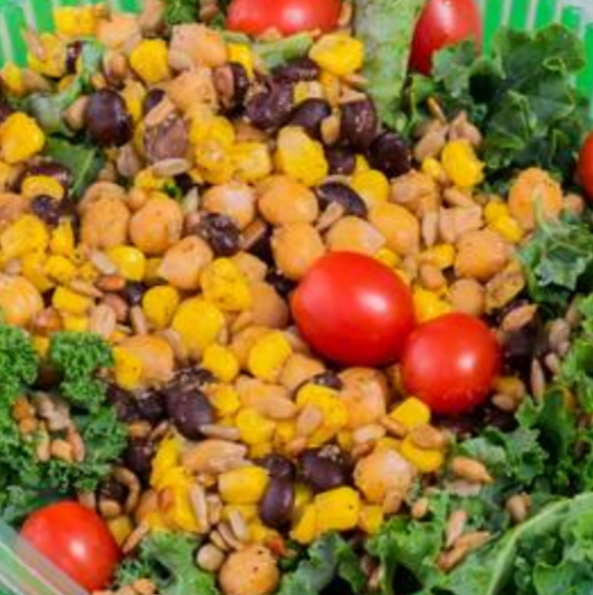 WRAP - Roasted Chickpea  Kale Salad