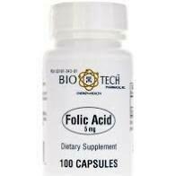 Folic Acid 5mg 100 caps Biotech