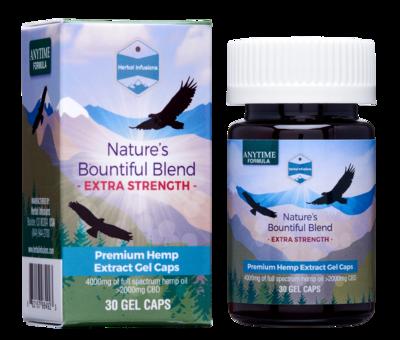 Extra-Strength Nature's Bountiful Blend Hemp Oil Capsules