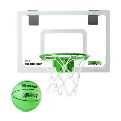 SKLZ Pro Mini Basketball Hoop Glow in the Dark with Green Ball