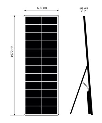 Цифровой постер: 690x1970, P2,5 - внутренний, напольный