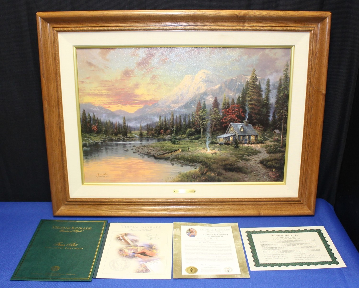 Thomas Kinkade Evening Majesty Framed Lithograph on Canvas G/P 1263/1750, COA