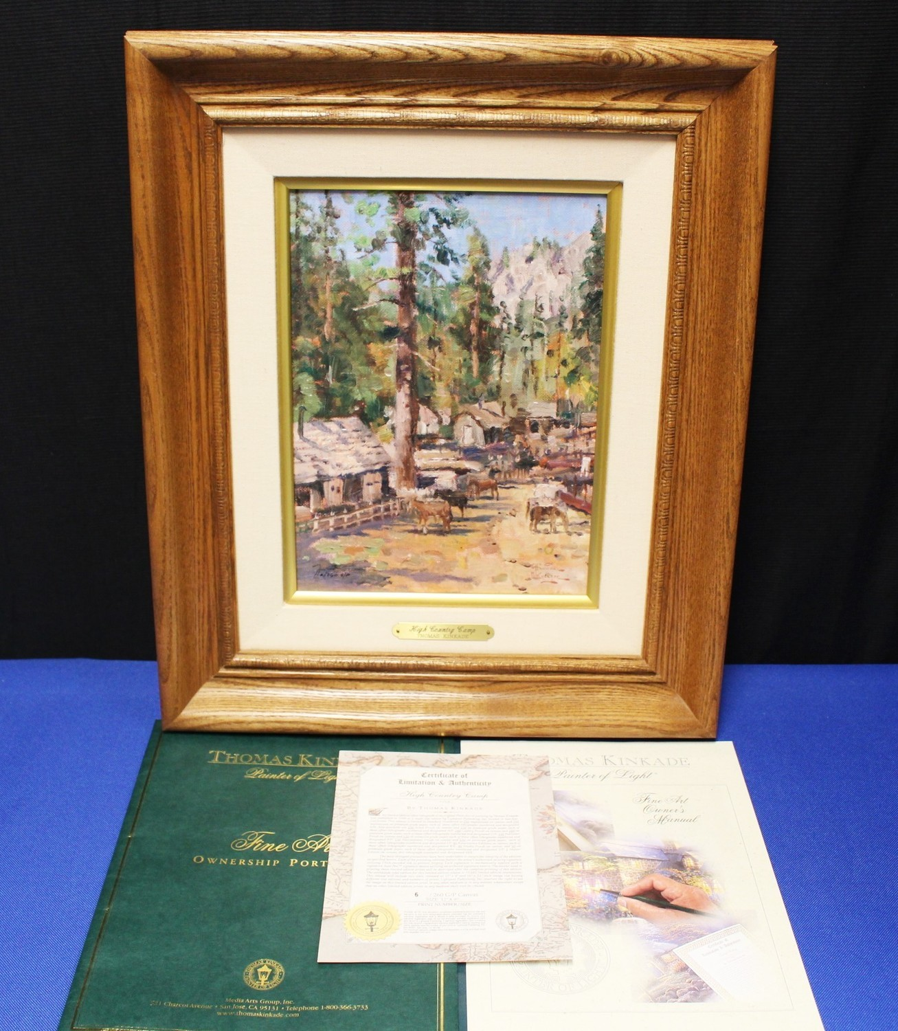 """Thomas Kinkade """"High Country Camp"""" 12 x 9 Lithograph on Canvas G/P #6/260"""