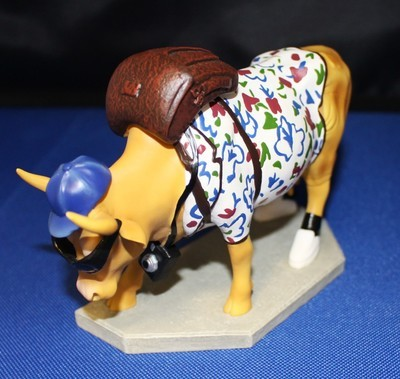 "Cow Parade ""Out of Cow Towner"" 1/3495 Retired Figurine #9121"