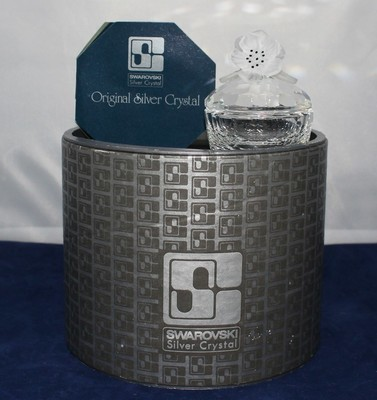 Swarovski Crystal Flowers Round Treasure Box Figurine with Certificate & Box