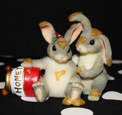 "Charming Tails Fitz & Floyd 84/112 ""Honey Bunnies"