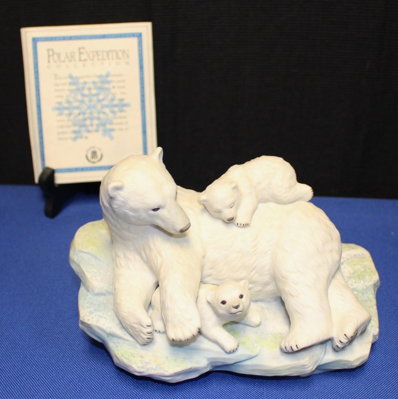 1992 Maruri Fine Porcelain Polar Bear Expedition Figurine w/ COA & Original Box
