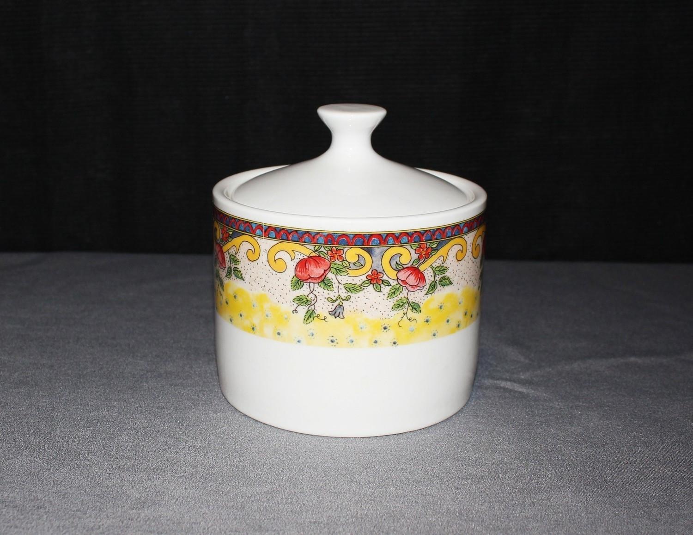 "American Atelier ""Petite Provence"" No. 5074 Porcelain Sugar Bowl w/ Lid, Stamped"