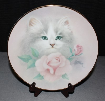 Hamilton by Harrison Blushing Beauties 1st Issue Petals & Purrs Collectors Plate