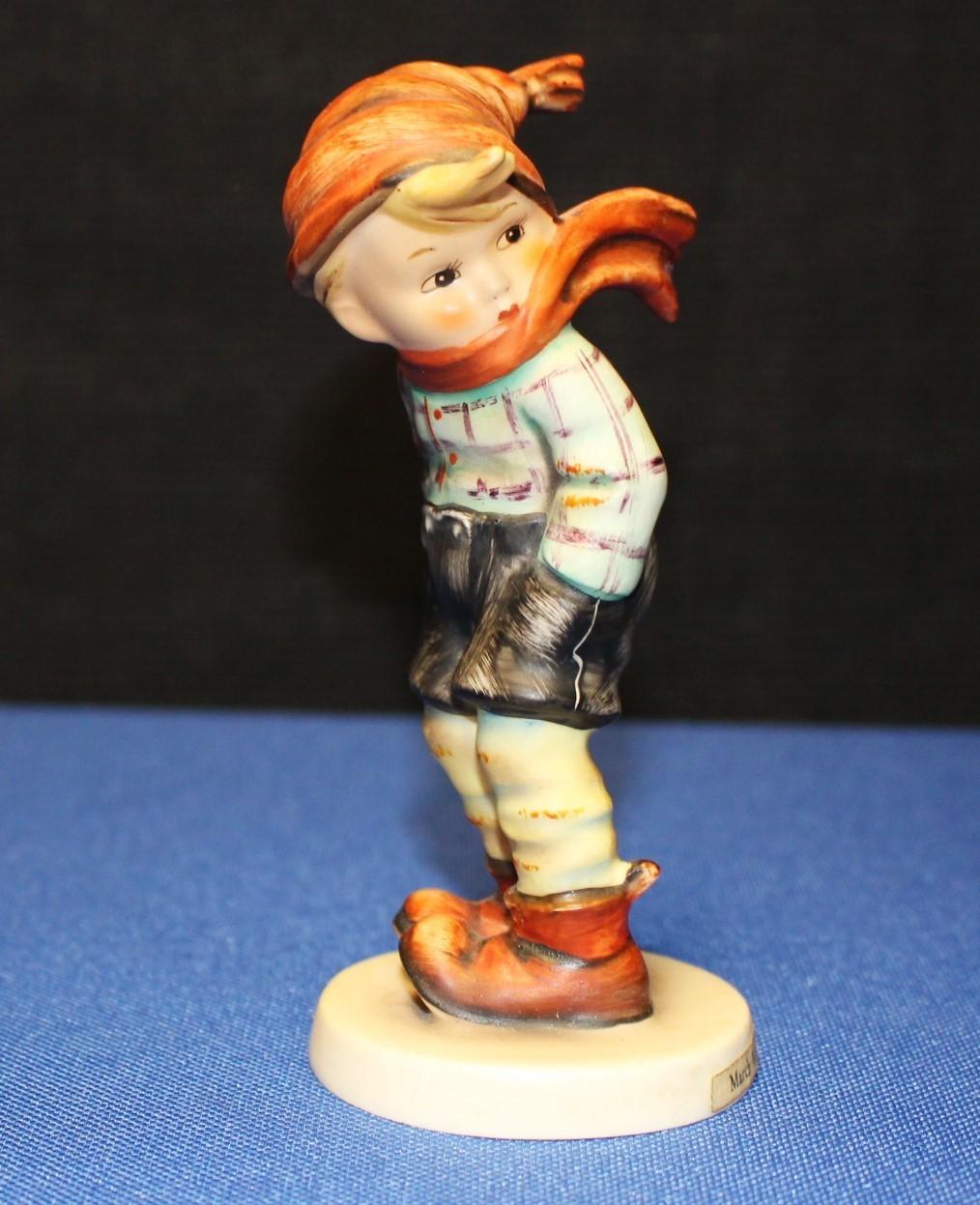 "Goebel Hummel March Winds 4.75"" Figurine #43 TMK-3 Boy w/ Scarf"