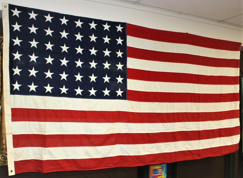 Annin & Co US Vintage WW2 Era 48 Sewn Stars & Stripes 5 x 9.5 Feet American Flag