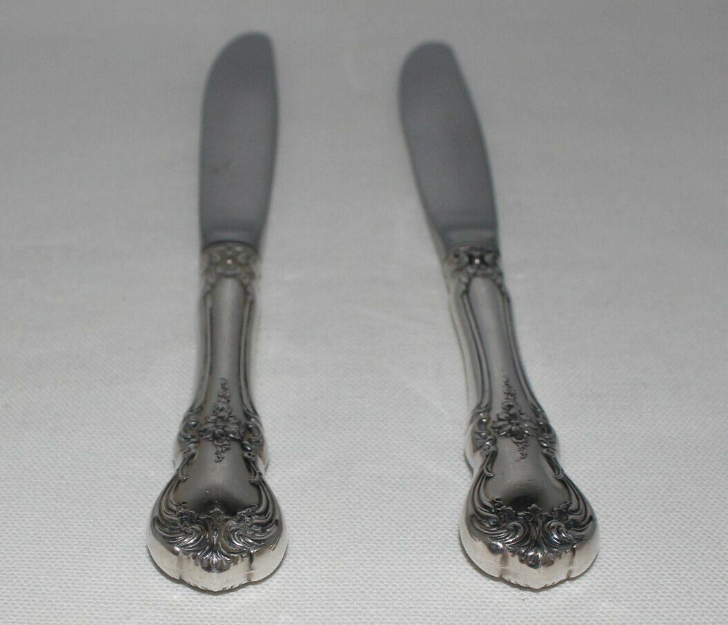 """Set of 2 Towle Old Master .925 Sterling Silver 8 3/4"""" Modern Hollow Knives"""