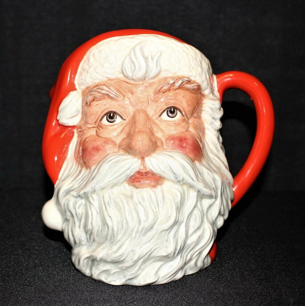 """Royal Doulton Large 7"""" Santa Claus Character Toby Mug, England D6704"""